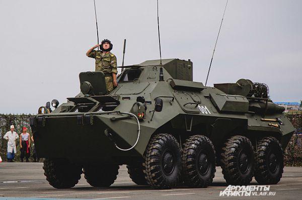 БТР - главная техника на службе морской пехоты.