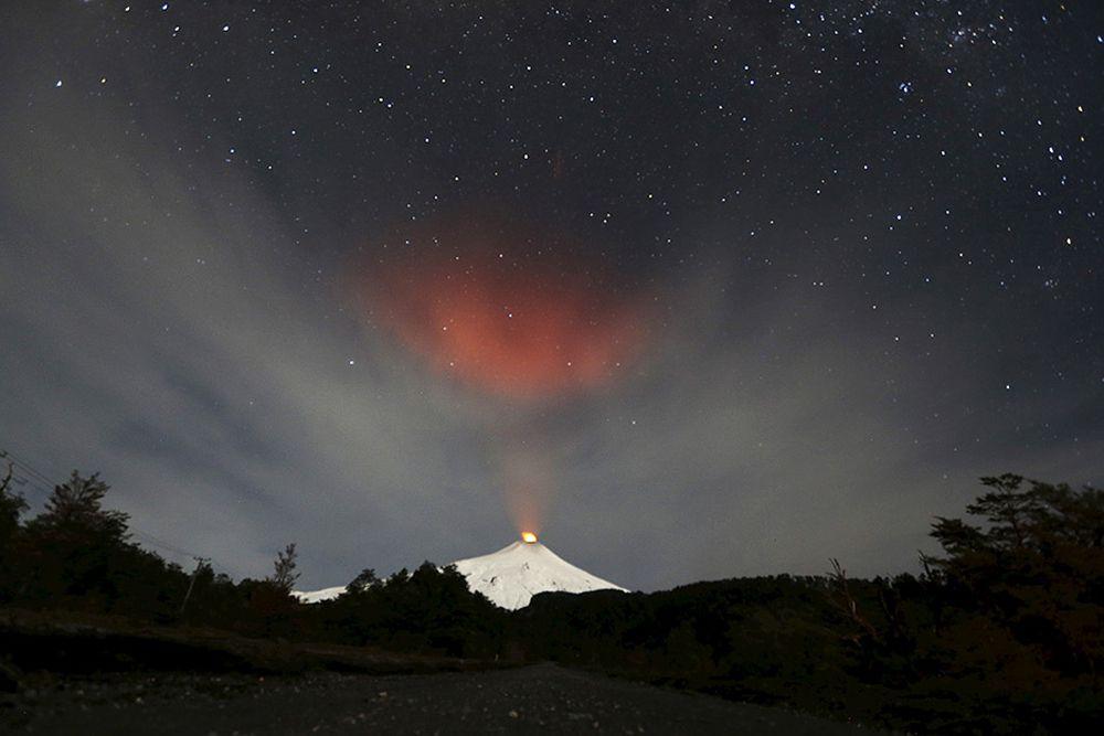 Вулкан Вильяррика. Чили, 23 июня.
