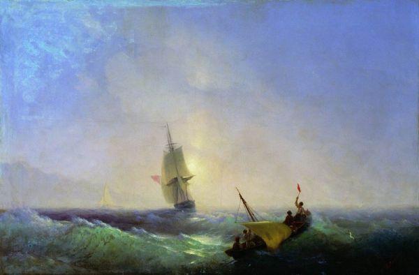 «Спасающиеся от кораблекрушения». 1844 год. Национальная картинная галерея Армении