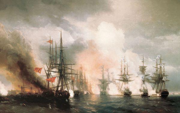 «Синопский бой». 1853 год. Центральный военно-морской музей