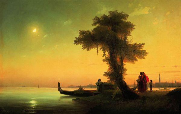 «Вид на венецианскую лагуну». 1841 года. Музей-заповедник «Петергоф»