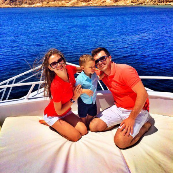 Григорий Решетник с семьей, Египет