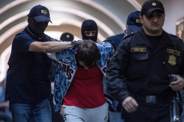 Андрей Виноградов после заседания Басманного суда города Москвы.