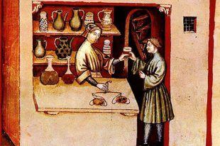 Средневековый аптекарь.