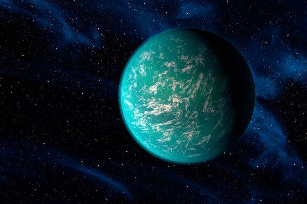 Kepler-22b удалена от Солнца на 640 световых лет и, в отличие от Kepler-20e, находится в обитаемой зоне своего светила. Радиус экзопланеты примерно в 2,4 раза больше, чем у Земли. У экзопланеты, вероятно, есть атмосфера и океан, в которых не исключена жизнь.