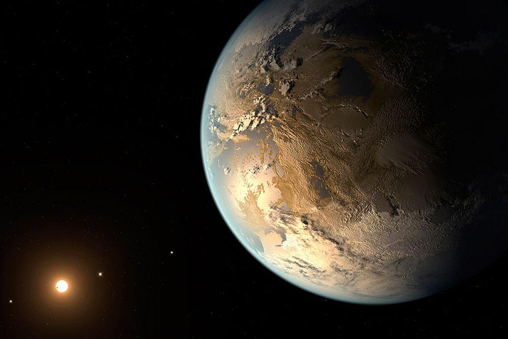 Экзопланета Kepler-186f находится на расстоянии 500 световых лет от Земли и вращается вокруг красного карлика, который меньше и слабее Солнца. Радиус экзопланеты примерно на 18 процентов больше, чем у Земли. До открытия Kepler-452b экзопланета Kepler-186f считалась наиболее похожей на Землю. Однако некоторые ученые сомневаются в том, что вблизи красных карликов возможна жизнь.