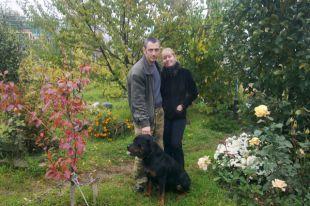 Виктор Рукавишников с женой.