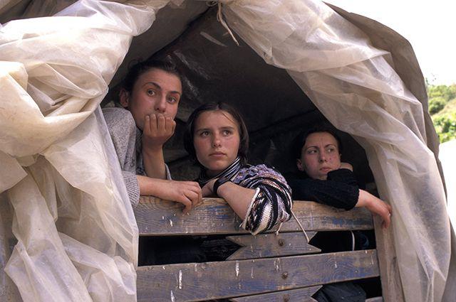 Сербские беженцы.