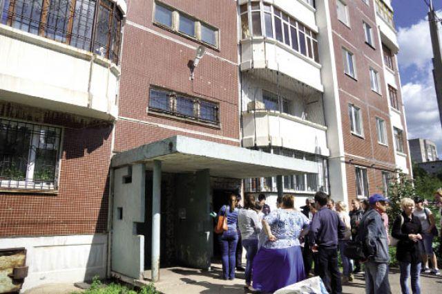 Дом на ул. Беляева, который пришлось эвакуировать.
