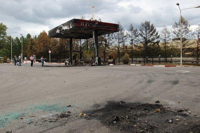 АЗС на пересечении улиц Аустина и Совхозной