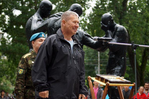 На нем выступали пермские политики, ветераны, а также вдовы погибших воинов.