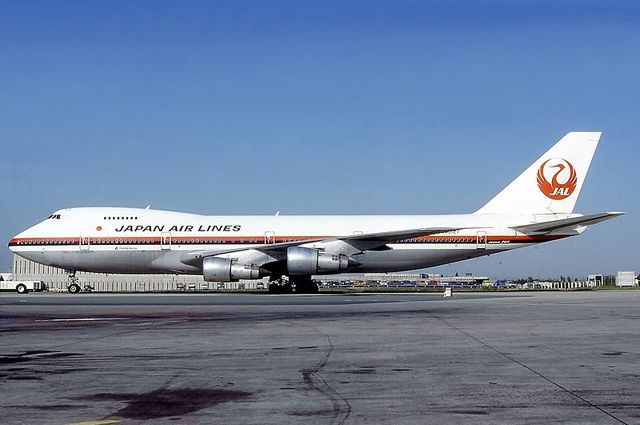 Boeing 747 авиакомпании Japan Airlines, схожий с разбившимся.