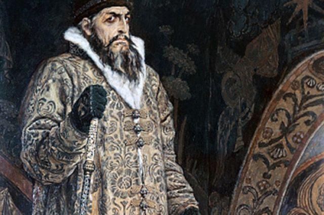 Репродукция картины Виктора Васнецова «Царь Иван Грозный» из собрания Государственной Третьяковской галереи.