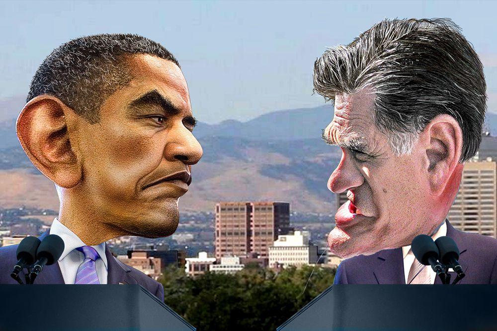 Барак Обама и Митт Ромни.