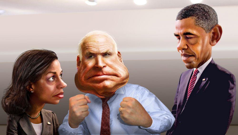 Джон Маккейн и Барак Обама.
