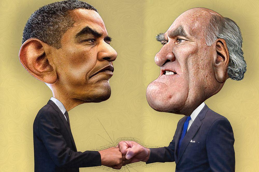 Уильям Дэйли и Барак Обама.