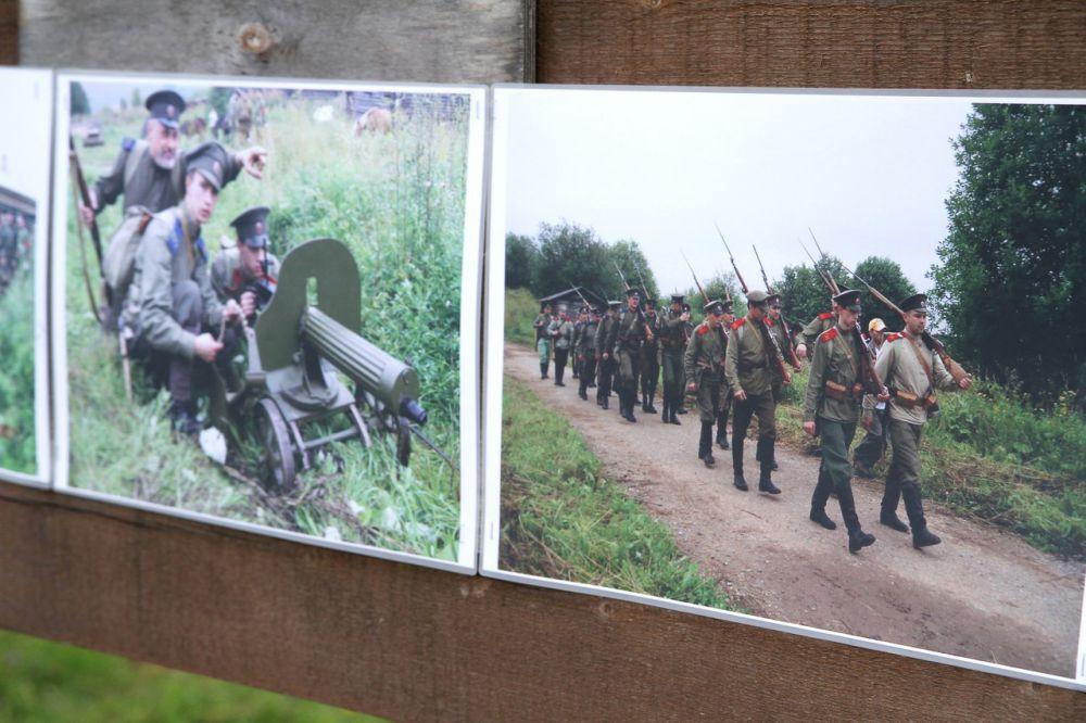 Фотовыставка на территории Хохловки.