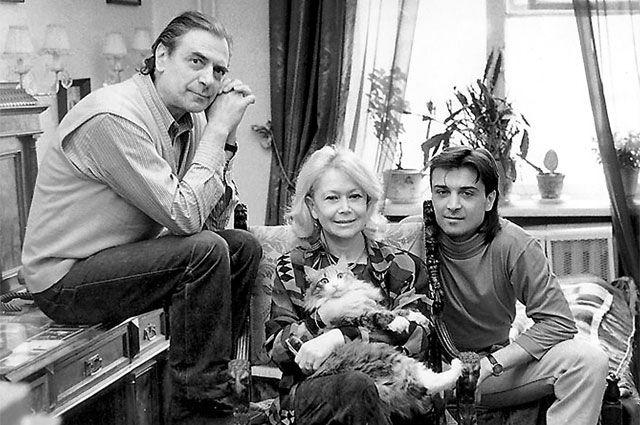 Александр Лазарев, Светлана Немоляева и их сын Александр Лазарев-младший.