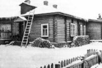 Вид на дом Теплоуховых со двора. 1906 г