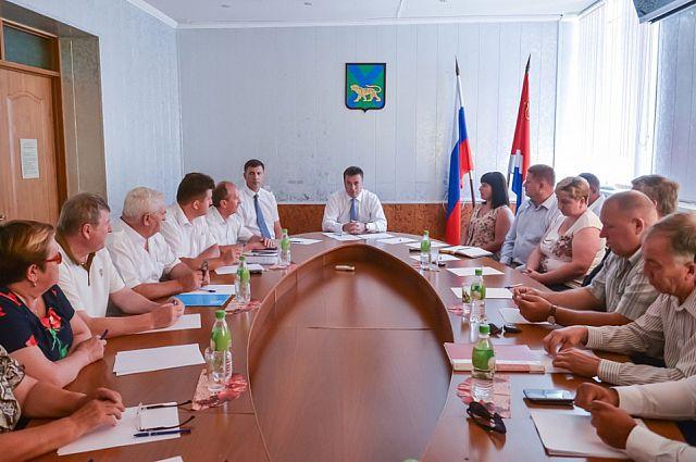 Встреча губернатора с предпринимателями Михайловского района.