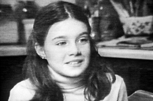 Американская школьница Саманта Смит (10 лет), получившая ответ на своё письмо от Генерального секретаря ЦК КПСС Ю.В. Андропова.
