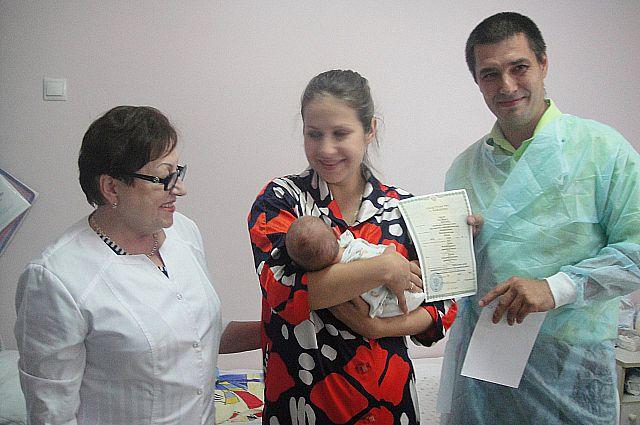 Первые поздравления новорождённому.