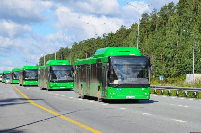 В Екатеринбург прибыли первые 10 автобусов из Белоруссии