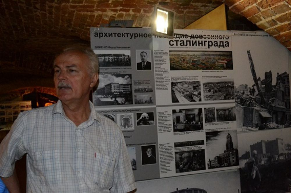 Профессор ВолгГАСУ, кандидат технических наук Петр Олейников, под руководством которого ученые вуза собирали материалы для выставки почти 15 лет.
