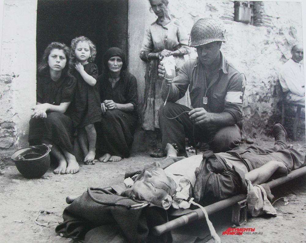 Переливание крови солдату