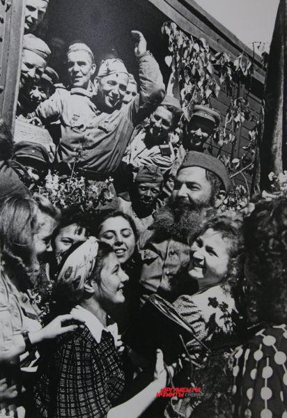 Встреча воинов-победителей в Москве,1945г