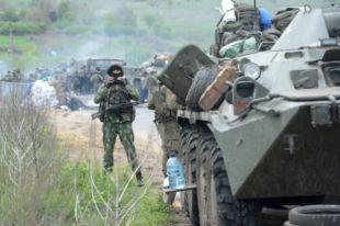 Украинские силовики обстреляли Горловку из тяжелых орудий