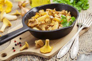 Жареная картошка слисичками