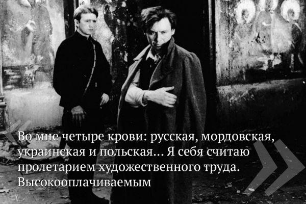 Олег Табаков в роли Искремаса на съемках кинофильма «Гори, гори, моя звезда». 1970 год.