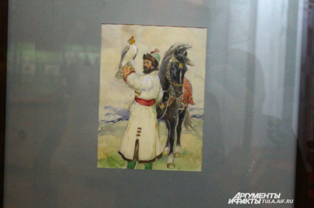 Особый колорит запечатленным соколятникам и борзятникам придают традиционные костюмы народов Европы и Азии.