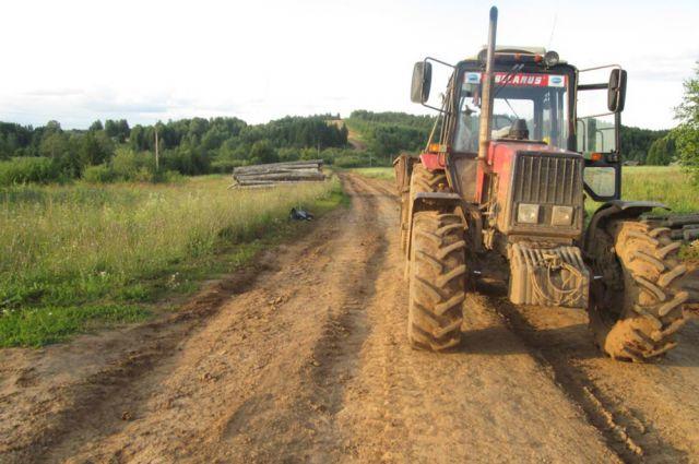 Трактор был обнаружен вскоре после угрона.