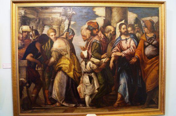 Веронезе Паоло (Паоло Калиари), мастерская (1528 - 1588). Блудница перед Христом