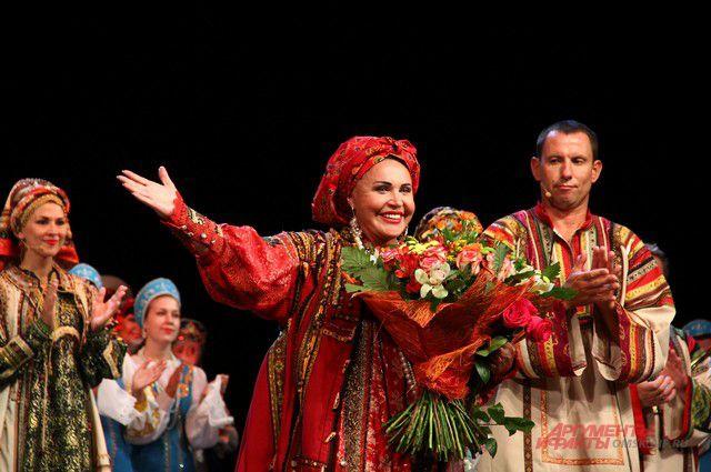 Надежда Бабкина на омской сцене.
