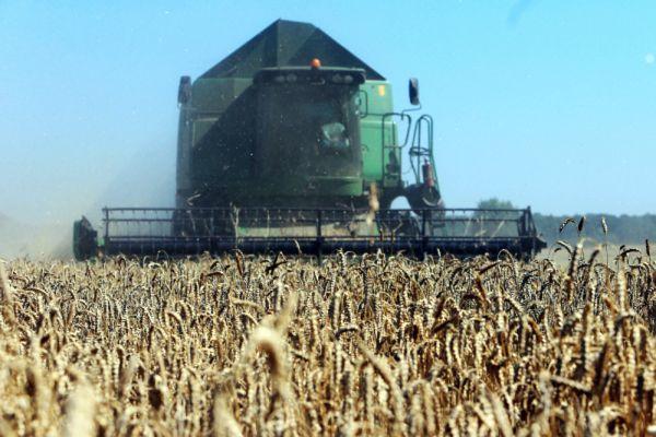 Уборка урожая на полях Калининградской области.