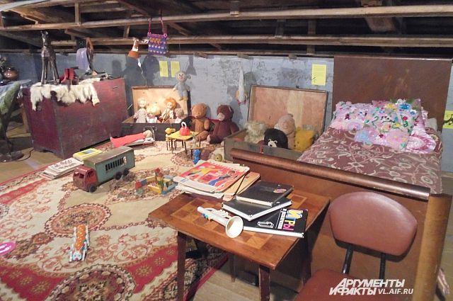 Детская комната времён СССР.