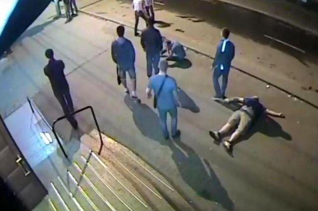 Скриншот видео с места происшествия.