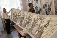 Выставка картин из дерева.