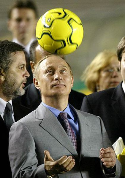 22 ноября 2004 года. Владимир Путин на стадионе «Маракана».