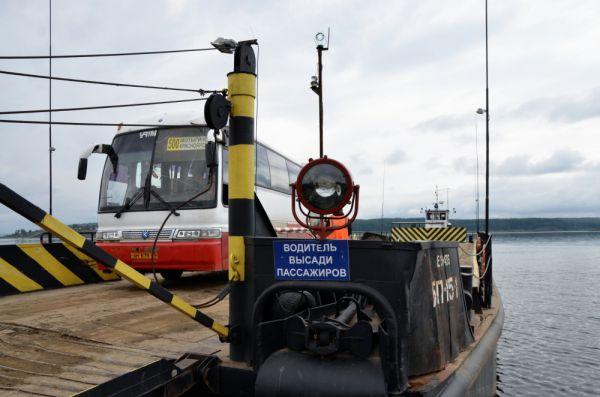 Автобус может заехать на паром только без пассажиров - соображения безопасности