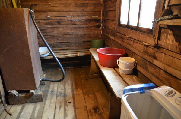 Местная баня в отдельном срубе