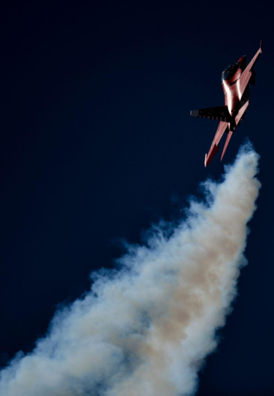 Як-130 во время генеральной репетиции летной программы.