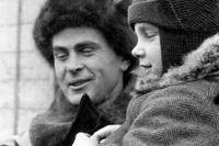 Герой Советского Союза, полярный исследователь Петр Ширшов с сыном.