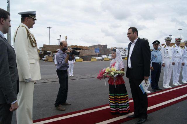 Встреча российских моряков в Исламской Республике Иран.