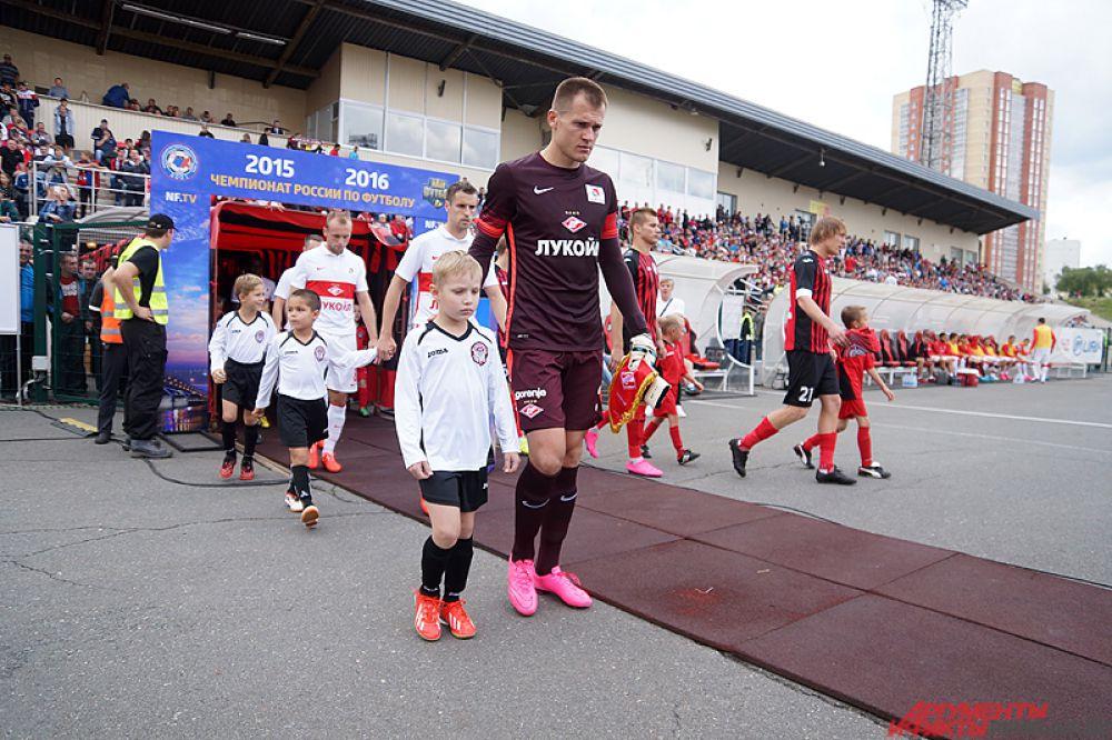 Матч «Амкар» - «Спартак» проходил на пермском стадионе Звезда.