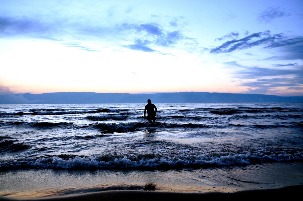 Байкал после заката.
