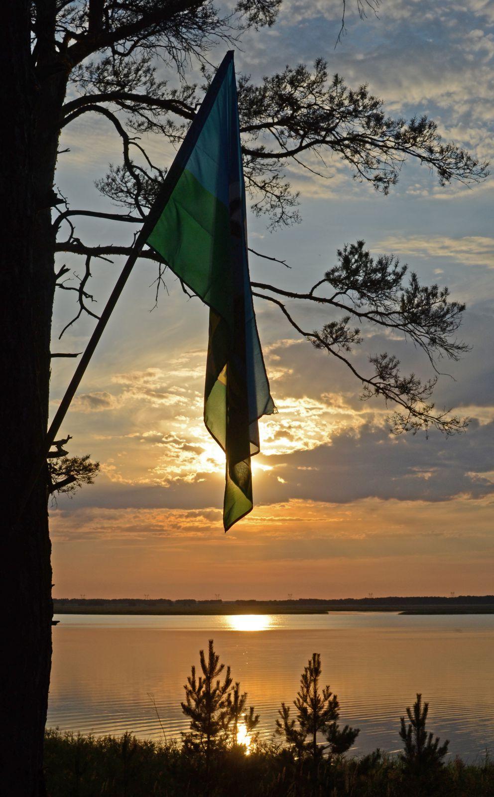 Закат на озере Молоково.